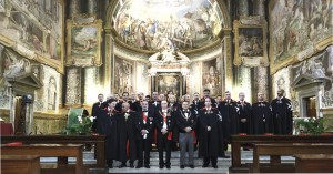 Cerimonia d'Investitura dei Cavalieri di Malta presso la Basilica di San Vitale